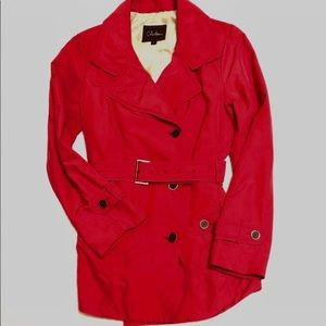 Beautiful, Classic Red Belted Trench Coat